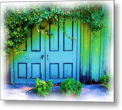Two Doors Metal Print by Judi Bagwell