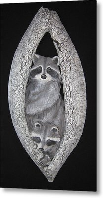 Two In A Tree Metal Print by Janet Knocke