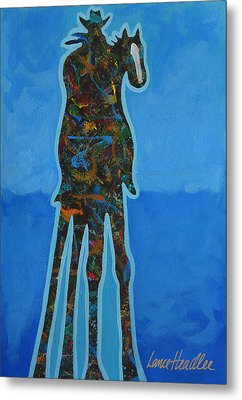 Two In Blue Metal Print by Lance Headlee