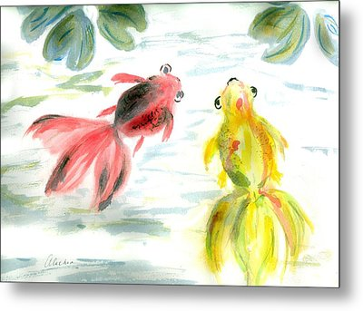 Two Little Fishes Metal Print by Alethea McKee
