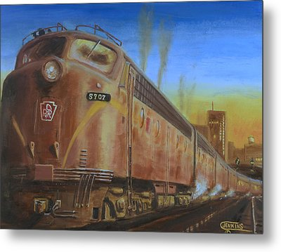 Two Minutes Late Metal Print by Christopher Jenkins