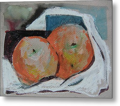 Two Oranges Metal Print by Mindy Newman