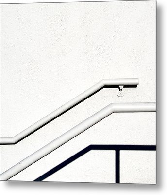 Two Rails Metal Print by CML Brown