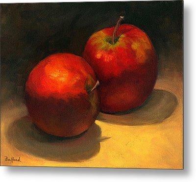 Two Red Apples Metal Print by Vikki Bouffard