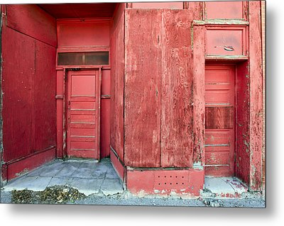 Two Red Doors Metal Print by James Steele