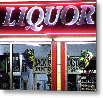 Two Sides Of Booze Metal Print by Joe Jake Pratt