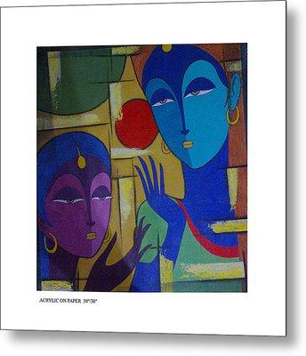 Two Women  Metal Print by Keshaw Kumar