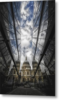 Two Worlds And In Between Metal Print by Russell Styles