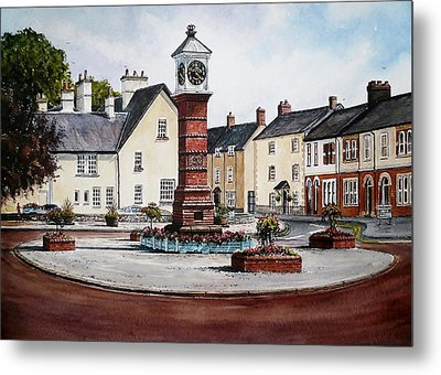 Twyn Square Usk Metal Print by Andrew Read