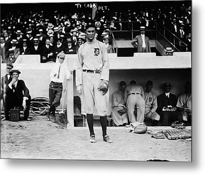 Ty Cobb Metal Print by Bill Cannon