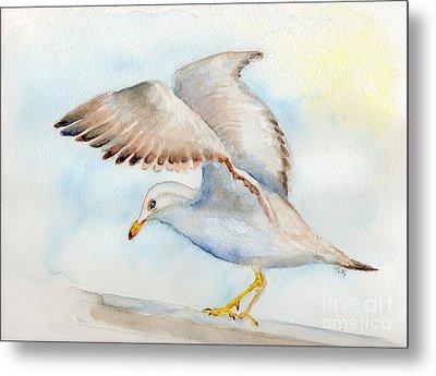 Tybee Seagull Metal Print by Doris Blessington