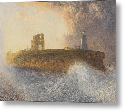 Tynemouth Pier Metal Print by Alfred William Hunt