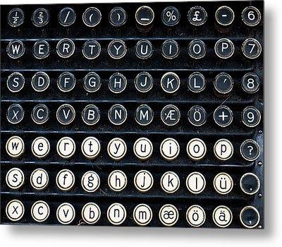 Typewriter Keyboard Metal Print by Hakon Soreide