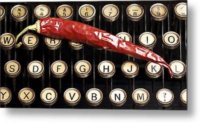 Typewriter Keys Xt Metal Print by Falko Follert