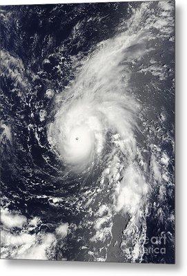 Typhoon Vamco In The Pacific Ocean Metal Print by Stocktrek Images