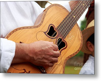 Typical Azores Guitar Metal Print by Gaspar Avila