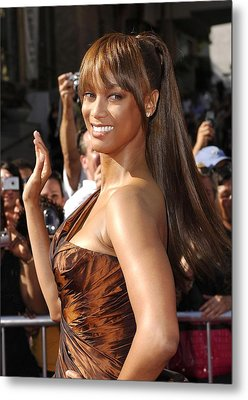 Tyra Banks At Arrivals For 34th Annual Metal Print by Everett