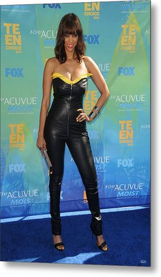 Tyra Banks Wearing A Thierry Mugler Metal Print by Everett