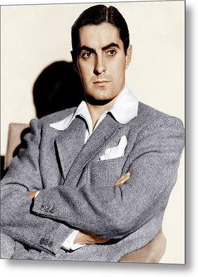 Tyrone Power, Ca. 1940s Metal Print by Everett