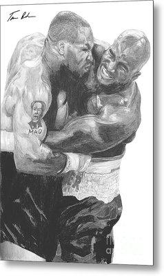 Tyson Vs Holyfield Metal Print by Tamir Barkan