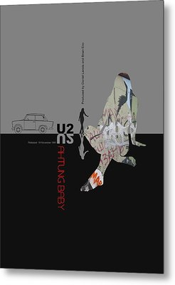U2 Poster Metal Print
