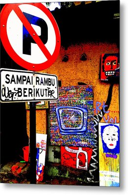 Ubud Art Street  Metal Print by Funkpix Photo Hunter