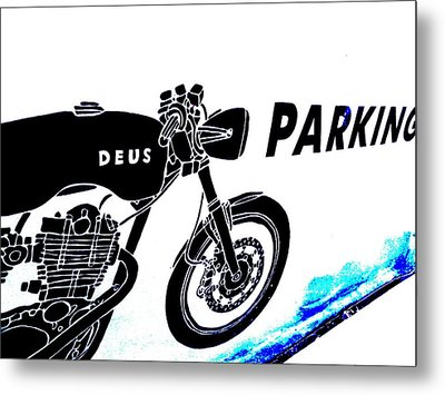 Ubud Motorbike Parking  Metal Print by Funkpix Photo Hunter