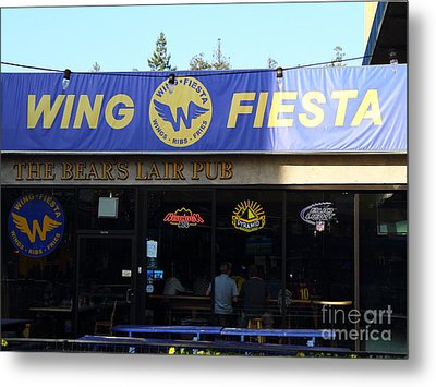 Uc Berkeley . Bears Lair Pub . 7d9980 Metal Print by Wingsdomain Art and Photography
