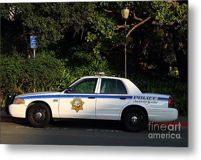 Uc Berkeley Campus Police Car  . 7d10178 Metal Print by Wingsdomain Art and Photography