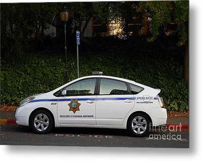 Uc Berkeley Campus Police Car  . 7d10181 Metal Print by Wingsdomain Art and Photography