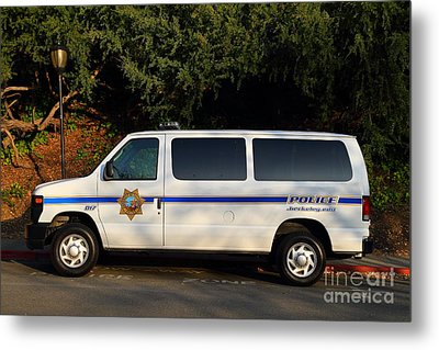 Uc Berkeley Campus Police Van  . 7d10180 Metal Print by Wingsdomain Art and Photography