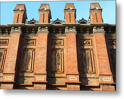 Uc Berkeley . South Hall . Oldest Building At Uc Berkeley . Built 1873 . 7d10109 Metal Print by Wingsdomain Art and Photography