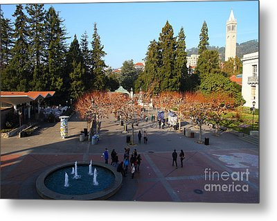 Uc Berkeley . Sproul Hall . Sproul Plaza . Sather Gate And Sather Tower Campanile . 7d10003 Metal Print by Wingsdomain Art and Photography