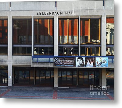 Uc Berkeley . Zellerbach Hall . 7d9989 Metal Print by Wingsdomain Art and Photography