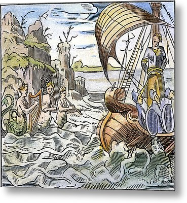 Ulysses, Tied To The Mast Metal Print by Granger