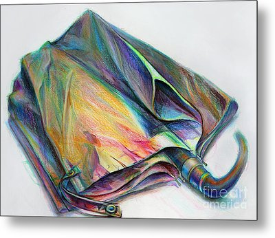 Umbrella Metal Print by Marie Jeon