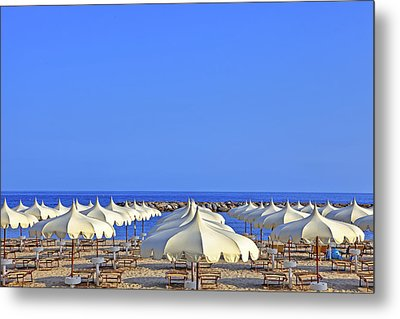Umbrellas In The Sun Metal Print by Joana Kruse