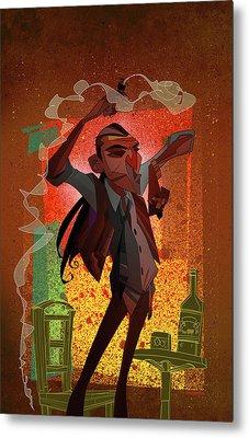 Un Hombre Metal Print by Nelson Dedos Garcia