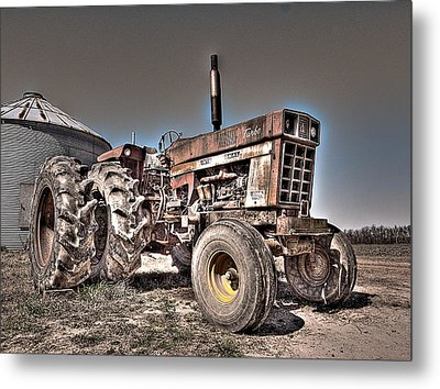 Uncle Carly's Tractor Metal Print by William Fields