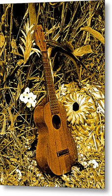 Metal Print featuring the photograph Uncle Luthers Ukulele  by Randy Sylvia