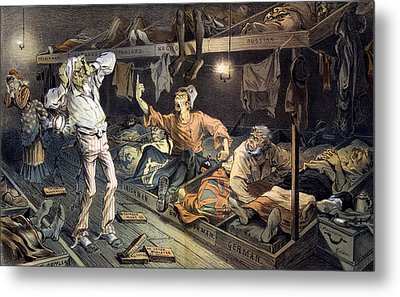 Uncle Sams Lodging-house. Print Shows Metal Print by Everett