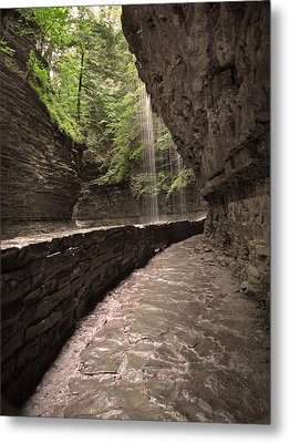 Under The Falls Metal Print by Cindy Haggerty