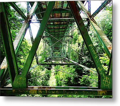 Under The Green Bridge Metal Print
