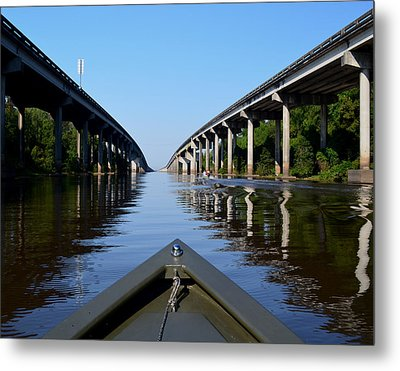 Under The Interstate Metal Print by Maggy Marsh