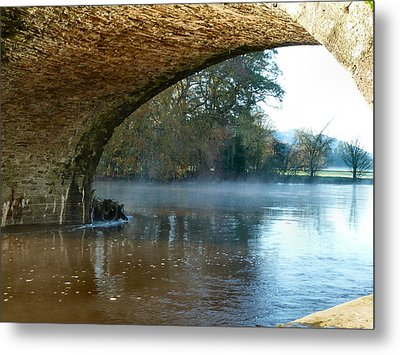 Under The Old Bridge Metal Print