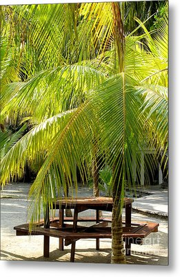 Under The Palm Tree Metal Print