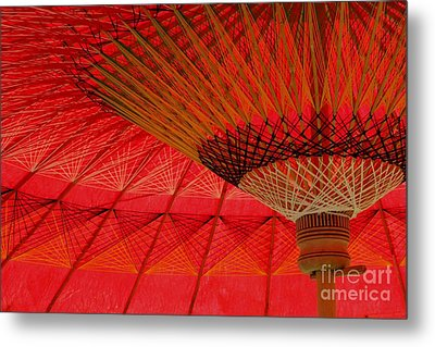 Metal Print featuring the photograph Under The Umbrella by Nola Lee Kelsey