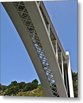 Metal Print featuring the photograph Underside Of Beautiful Bridge by Kirsten Giving