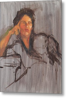 Unfinished Portrait Metal Print by Becky Kim