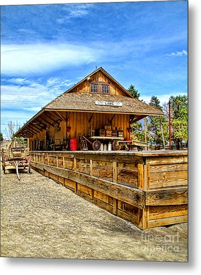 Unfinished Train Station Metal Print
